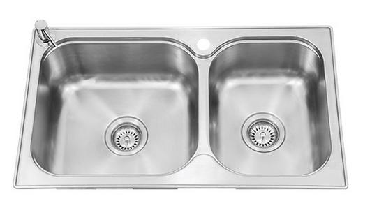厨房水槽/丽笙大小槽台上厨盆(K-72829T-2S-NA)