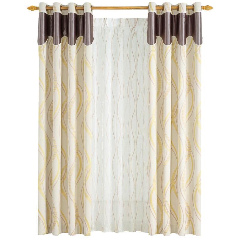 玉兰 X320002系列流畅提花线条窗帘