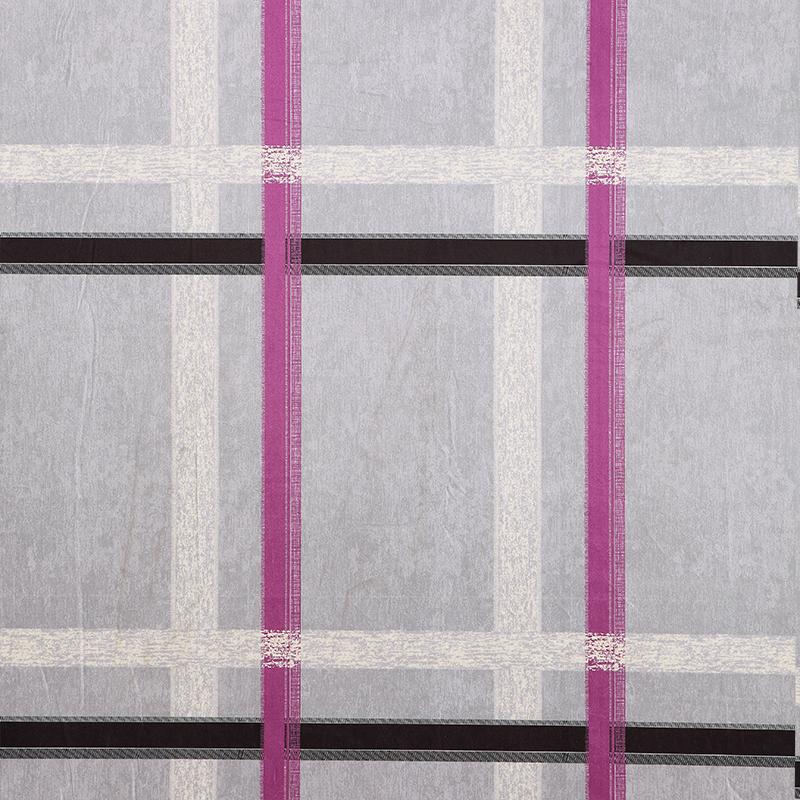 玉兰 X320009系列麝皮绒素色格子窗帘