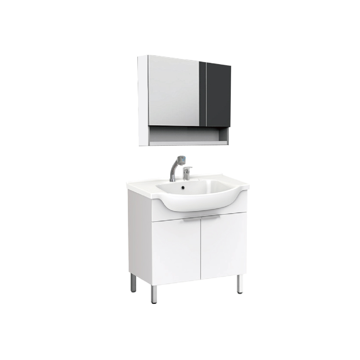 美标 新科德系列落地式浴室家具800(含盆及龙头)