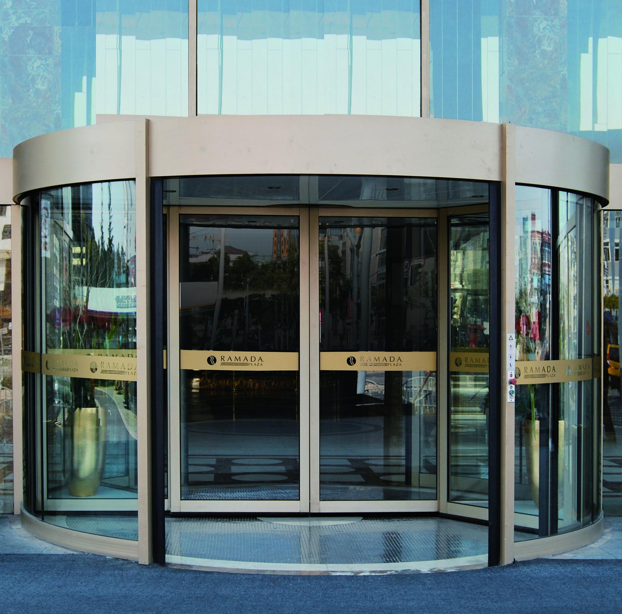自动旋转门标准门板是什么样的?旋转门的内部结构?